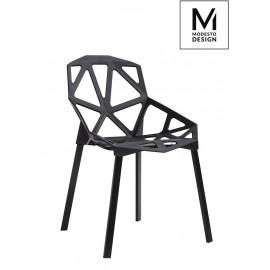 MODESTO krzesło SPLIT MAT czarne - polipropylen podstawa metalowa
