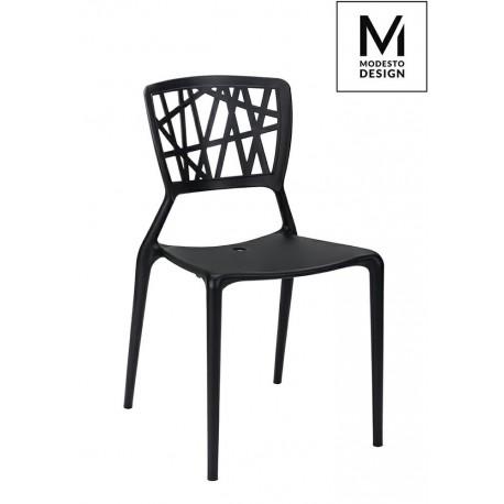 MODESTO krzesło VIND czarne - polipropylen