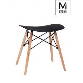 MODESTO stołek BORD czarny - polipropylen podstawa bukowa