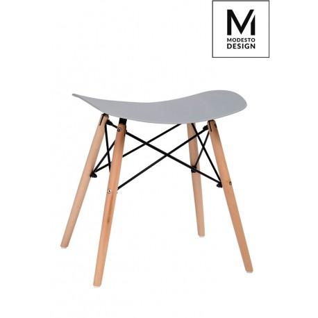 MODESTO stołek BORD szary - polipropylen podstawa bukowa