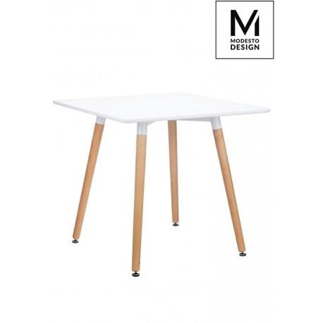MODESTO stół CONSUL biały - blat MDF podstawa drewniana