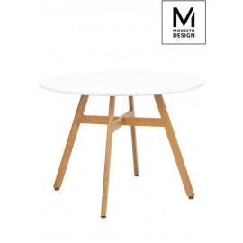 MODESTO stół FLAT FI 100 biały - blat MDF imitacja drewna