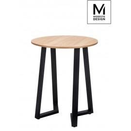 MODESTO stół TAVOLO FI 60 dąb - blat MDF podstawa metalowa