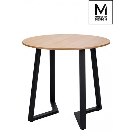 MODESTO stół TAVOLO FI 80 dąb - blat MDF podstawa metalowa