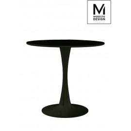 MODESTO stół TULIP FI 80 czarny - MDF podstawa metalowa