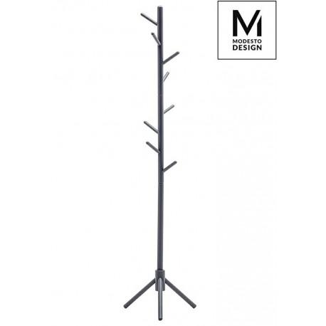 MODESTO wieszak stojący STICK szary - drewno bukowe
