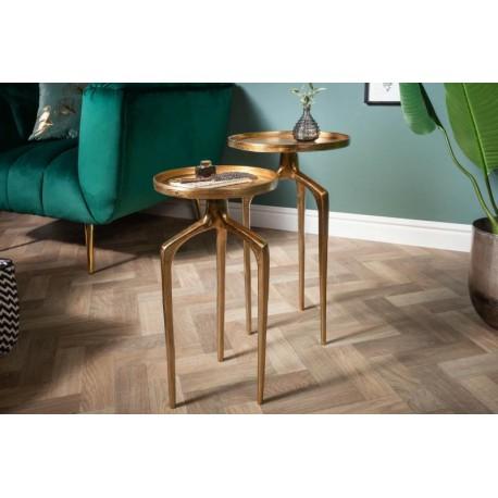 INVICTA zestaw stolików ABSTRACT złote - metal aluminium