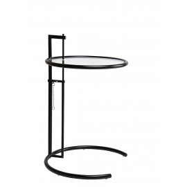 Stolik GREY czarny - metal szkło