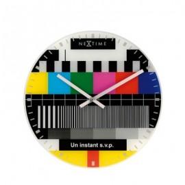 NeXtime La Mire zegar ścienny, przerwa telewizyjna 8607 fr