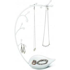 UMBRA stojak na biużuterię ORCHID -biały