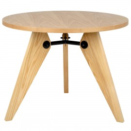 Stół JOSEF 95 naturalny - drewno metal