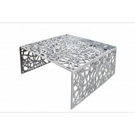 INVICTA stolik kawowy ABSTRACT 60cm - srebrny aluminium