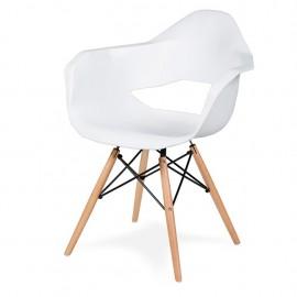 Fotel GULAR DSW biały - polipropylen podstawa bukowa