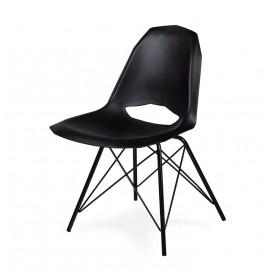 Krzesło GULAR DSM czarne - polipropylen podstawa czarna metalowa