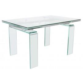Stół szklany ATLANTIS CLEAR 200/300 - rozkładany szkło transparentne