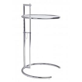Stolik GREY chromowany - metal szkło