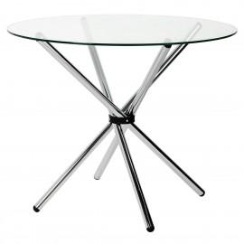 Stół CONEX blat szklany - szkło hartowane metal
