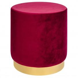 Pufa MARGO burgund - welur podstawa złota