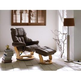 Nowoczesny fotel telewizyjny skórzany GARY