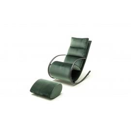Stylowy fotel relaksacyjny York tkanina butelkowa zieleń