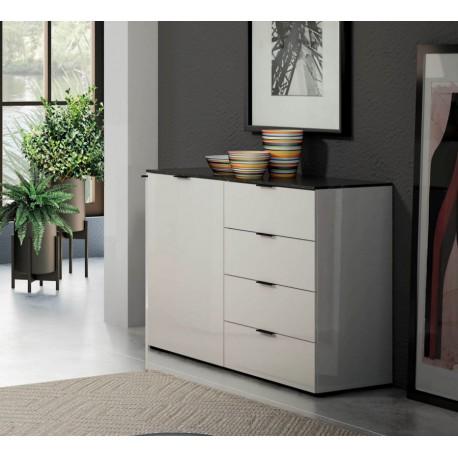 Biała komoda STONE z szufladami