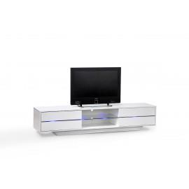 Elegancka szafka RTV BLUES oświetlenie LED pilot