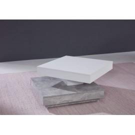 Stolik kawowy UNIVERSAL biały-beton