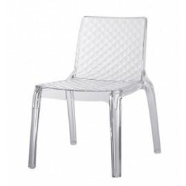 Nowoczesne krzesło z akrylu