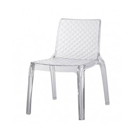 COMO nowoczesne krzesło z akrylu