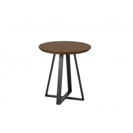 Okrągły stolik kawowy orzechowy blat 50x51 cm T012B