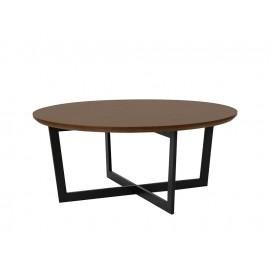Okrągły stolik kawowy orzechowy blat Ø90x37 cm T012A