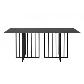 Designerski stół czarny marmurowy matowy blat 180x90x75 cm D14