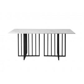 Designerski stół szary marmurowy błyszczący blat 180x90x75 cm D14