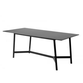 Stół czarny marmurowy matowy blat 180x90x75 cm D13