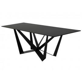 Designerski stół czarny marmurowy blat 180x90x75 cm D03