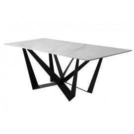 Designerski stół szary marmurowy błyszczący blat 180x90x75 cm D03