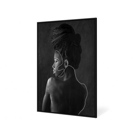 Czarno biały obraz kobiety 82,6x122,6 cm V0449