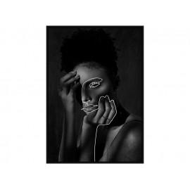 Czarno biały obraz popiersie kobiety 82,6x122,6 cm V0450