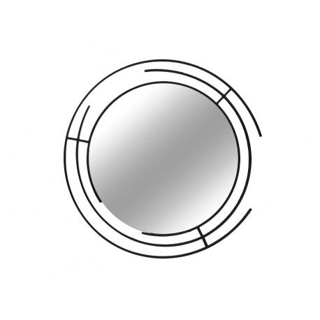 Nowoczesne lustro w czarnej matowej ramie ramie 90 cm LW6856