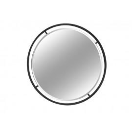 Okrągłe lustro w stalowej czarnej ramie 89 cm LW6852