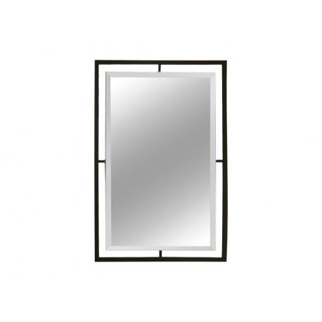 Lustro w czarnej matowej oprawie 100x120 cm LW6853