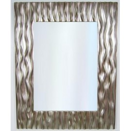 Lustro kryształowe w srebrnej ramie