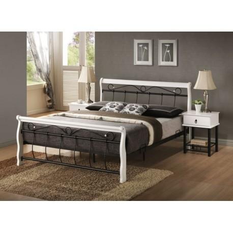 Valencia łóżko stylowe białe 160x200