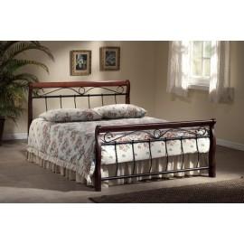 Valencia łóżko stylowe czereśnia