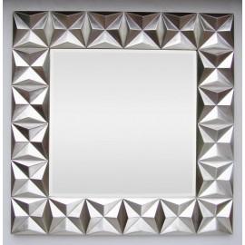 Lustro w srebrnej ramie PU-150 100x100cm